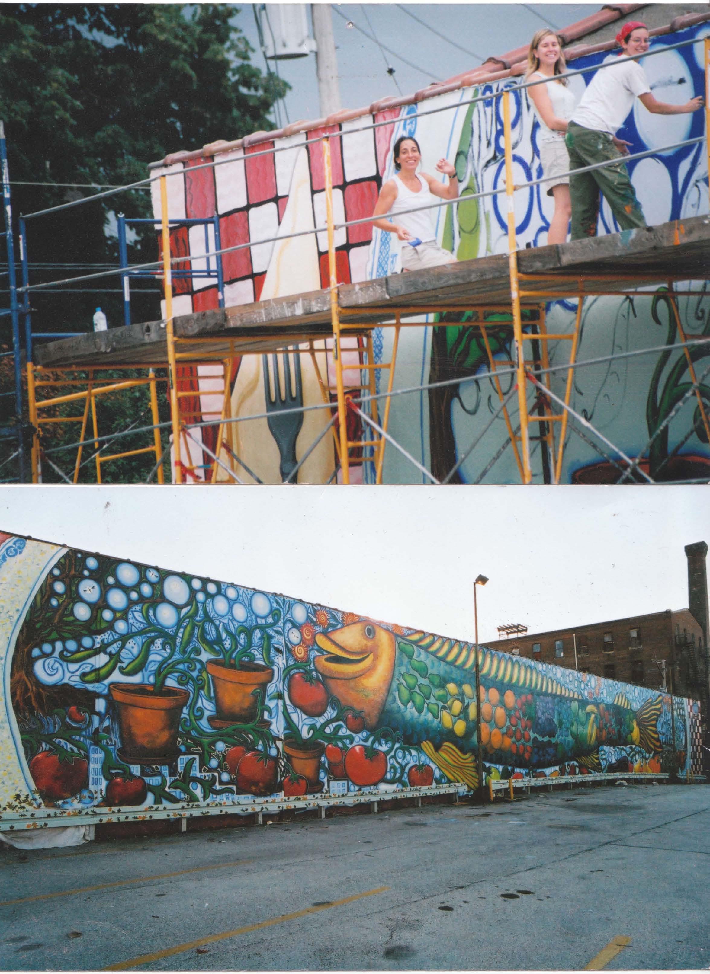 art sphere inc big fish mural