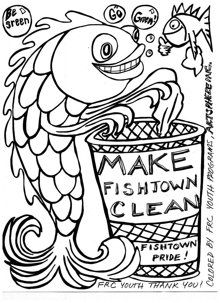Fishtown coloring sheet