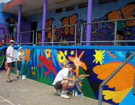 Literacy Through Murals at McAplin Recreation Center