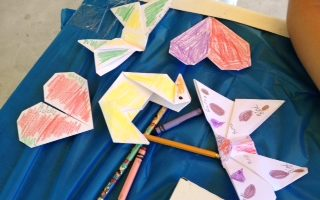Planets, portraits and origami dog bookmarks!