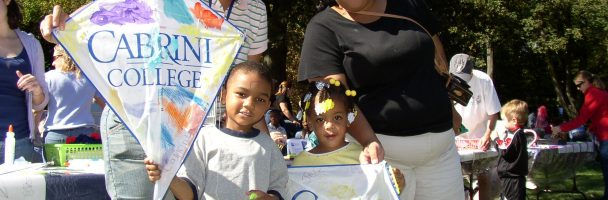 Kites Thru Art at Cabrini College's Family Weekend