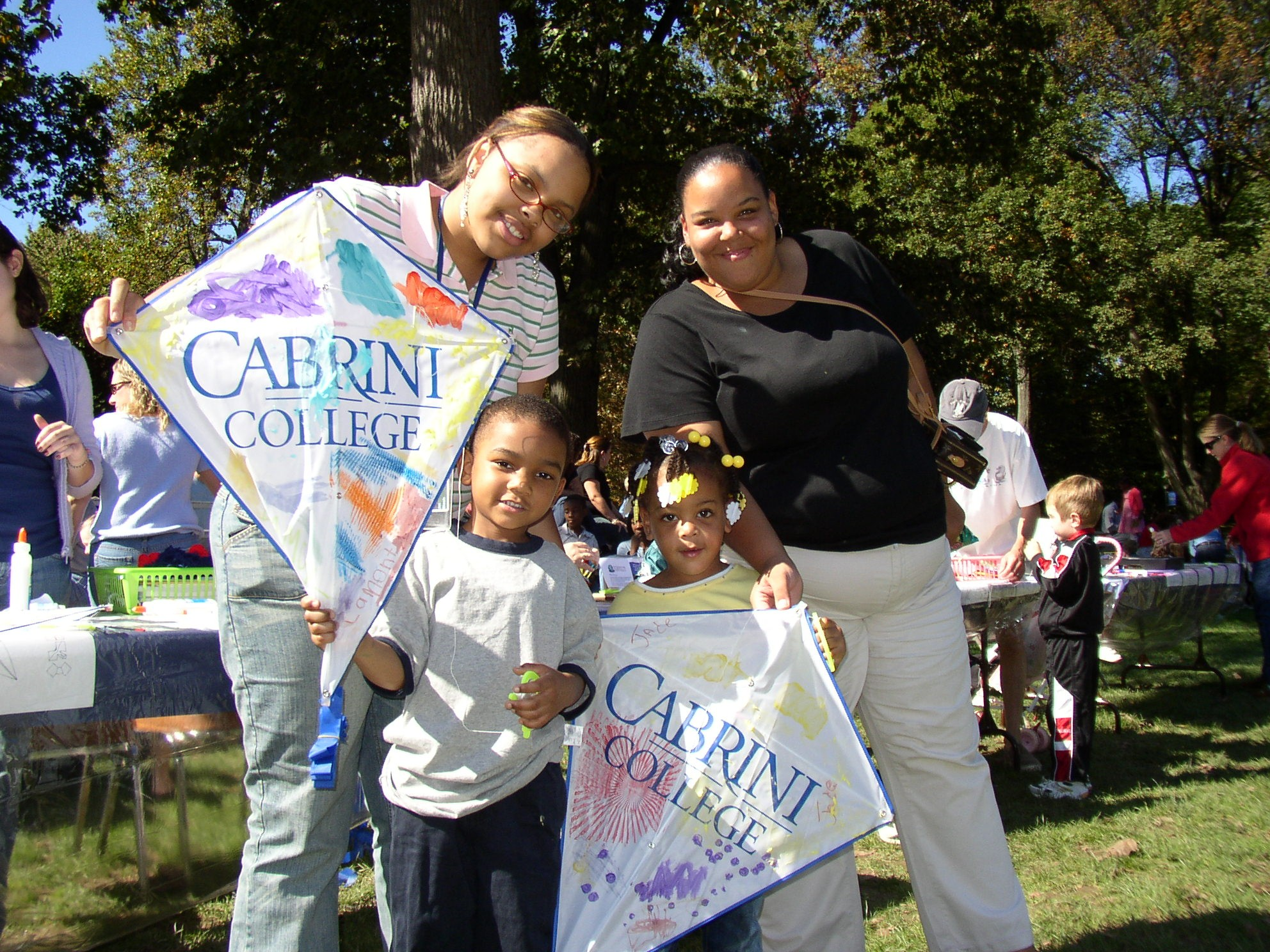 Kites Thru Art at Cabrini College's Family Weekend