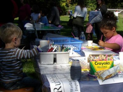 Cabrini College Arts and Craft Table
