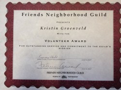 Friends Neighborhood Guild Award