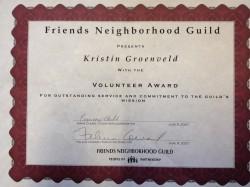 Friends Neighborhood Guild Award