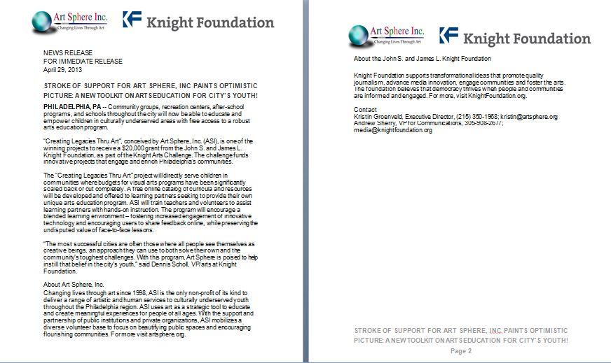 KF Press Release
