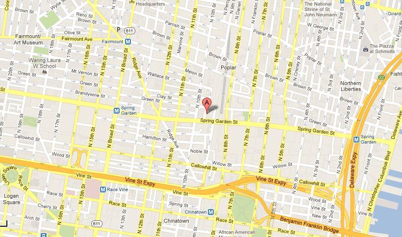 915 Spring Garden Studio on Map