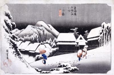 Night Snow by Utagawa Hiroshige
