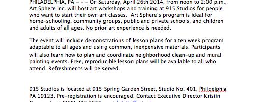 Workshops and Teacher Training !