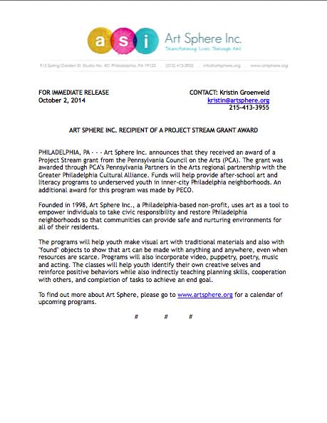 Grant Press Release