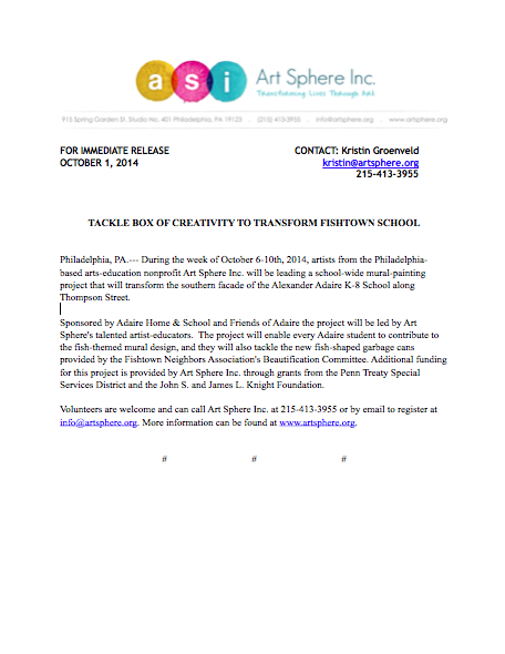 Adaire school mural press release