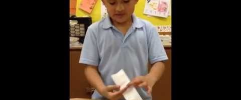 Cohox Rec. Center Student  Teaching Origami