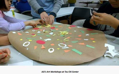 Art workshop at Tzu Chi Center