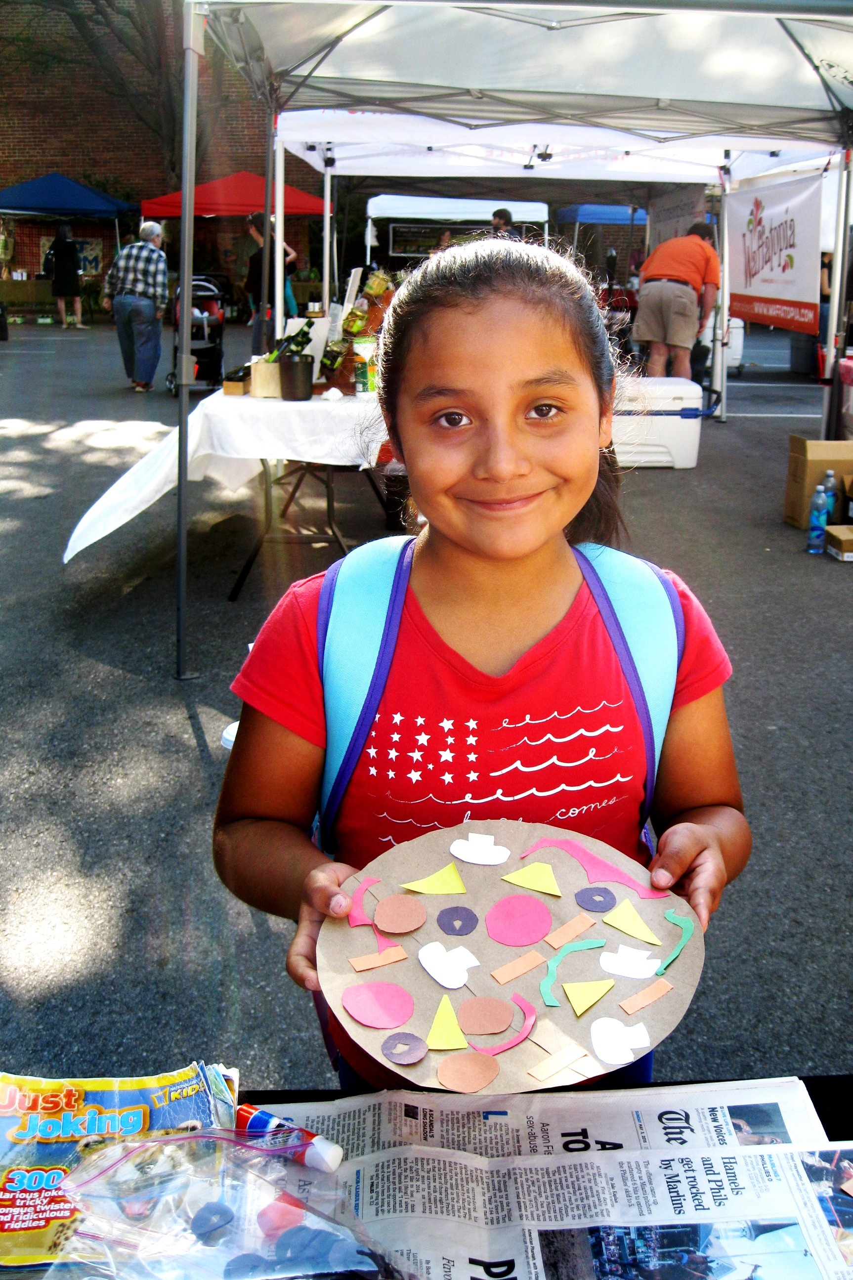 Healthy Pizza Project at Farmer's Market