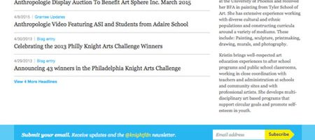 Knight Foundation Blog Features Art Sphere Inc.