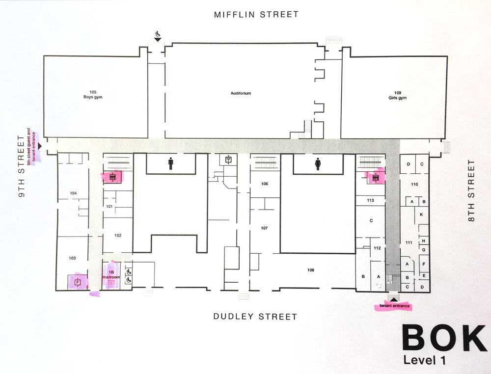 Bok Building Diagram Level 1