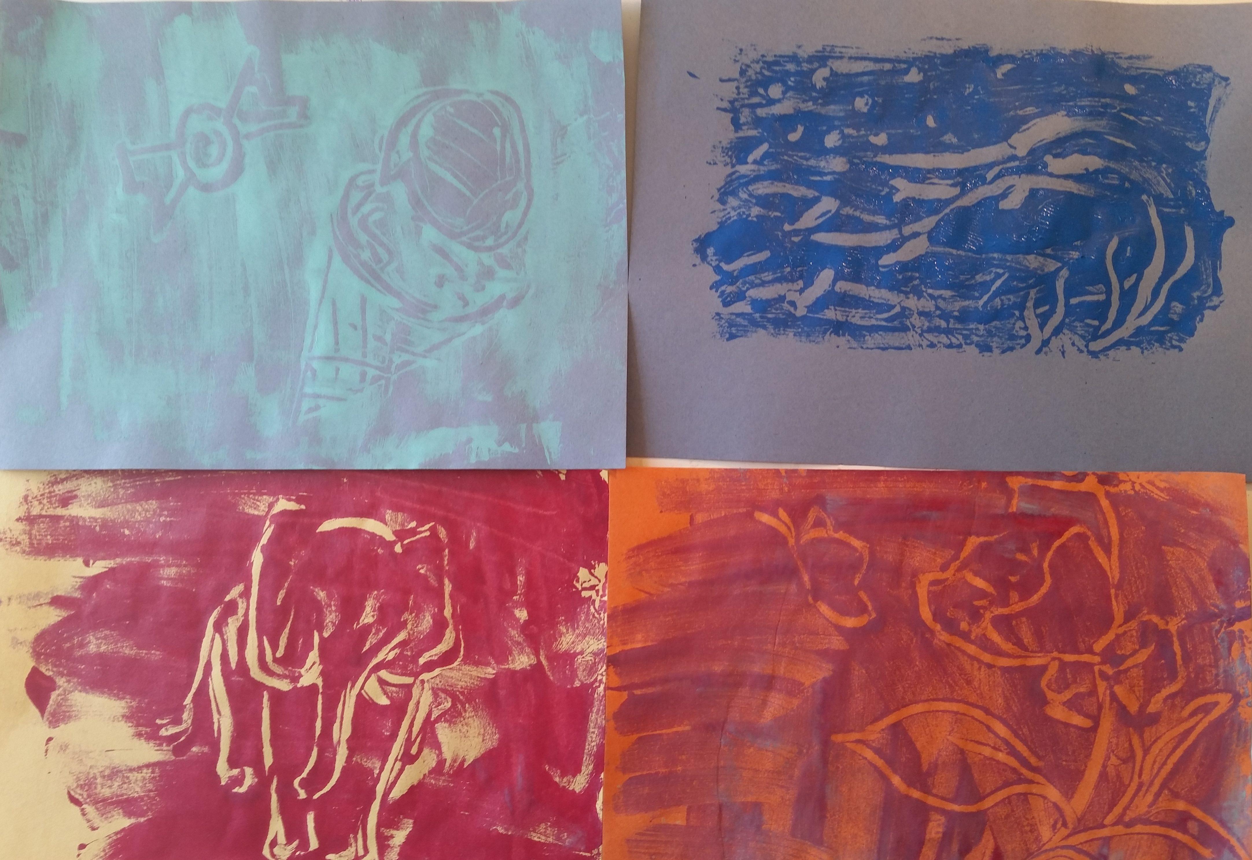 Tinfoil Monoprints