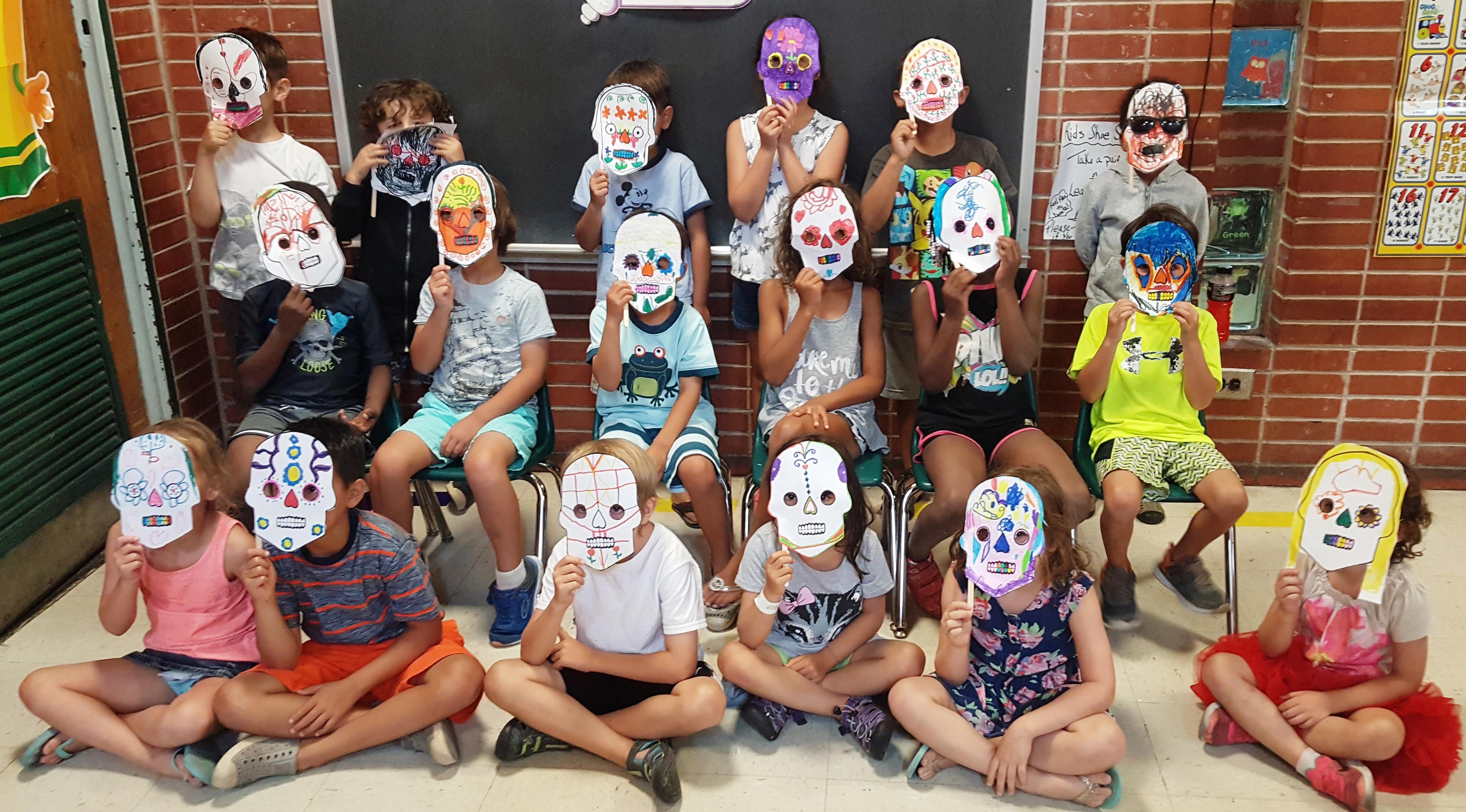Easy Día de los Muertos Paper Masks