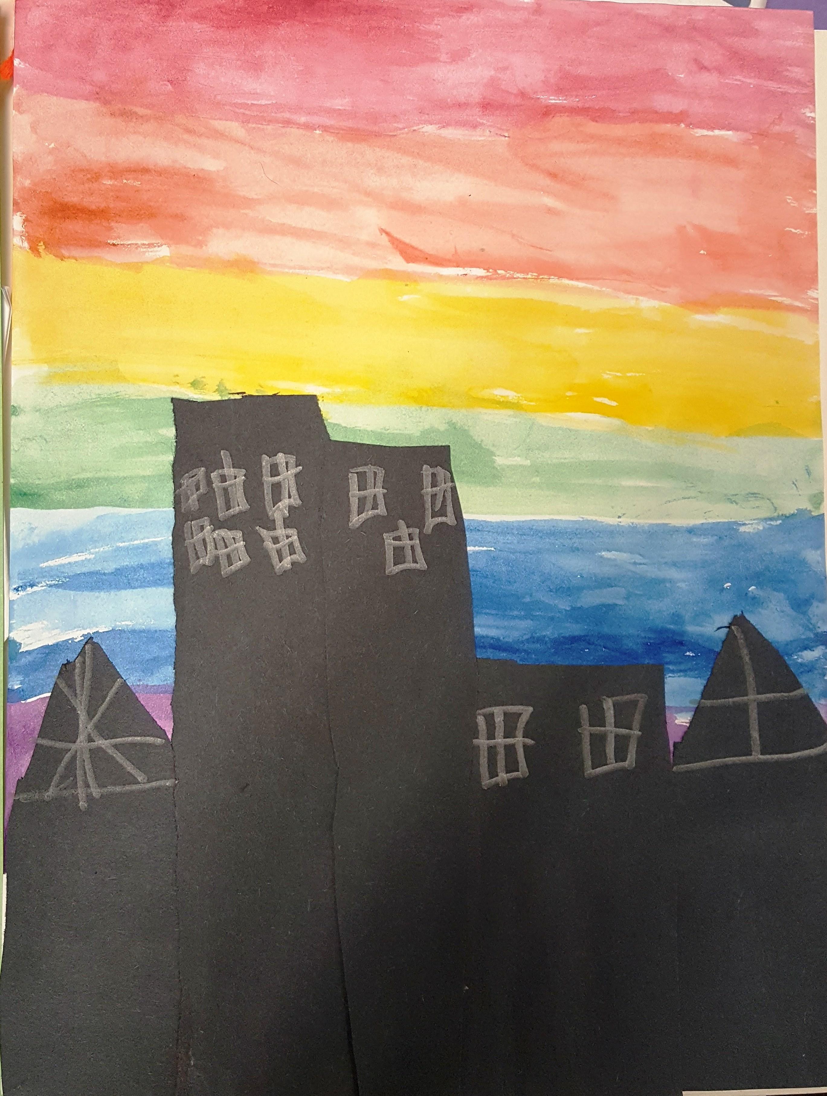 Watercolor City Skylines