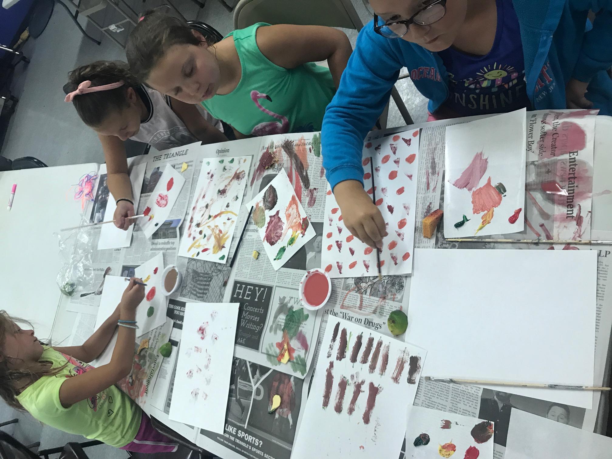 Printmaking Patterns At Samuels Rec Center!