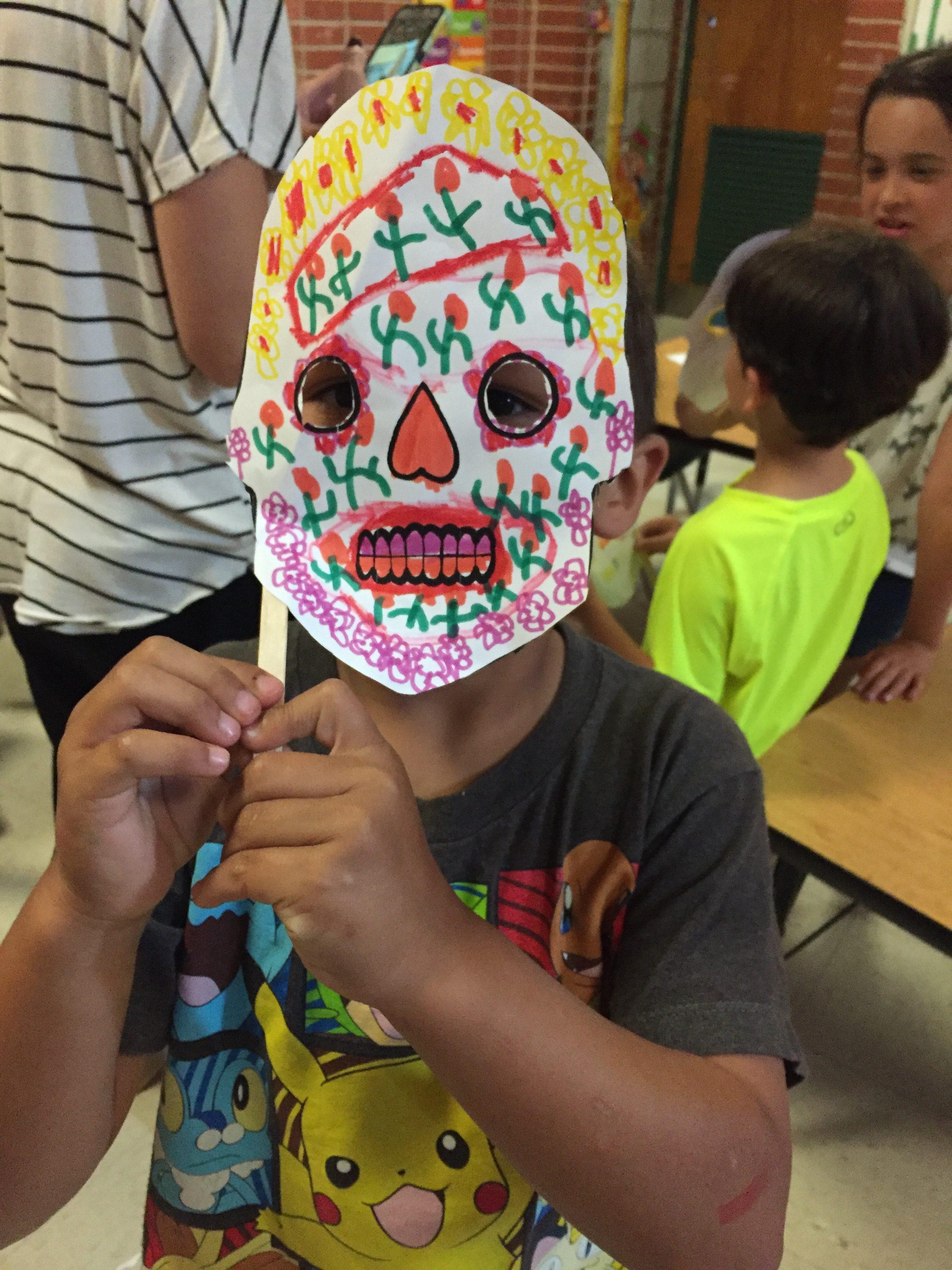 Dia de los Muertos Masks at Cione Recreation center