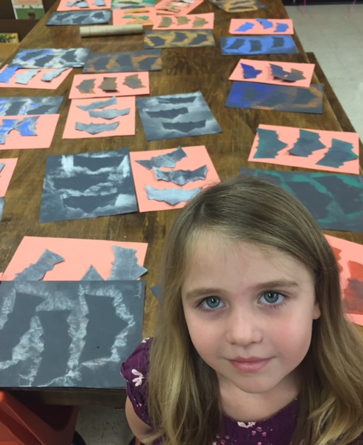 Bats and the Magic of Stencils Using Pastels!