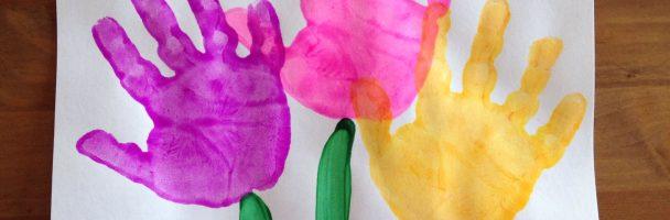 Hand-print Flowers