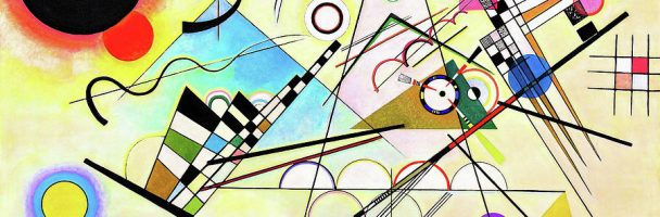 Learn Shapes with Kandinsky Watercolor Paintings