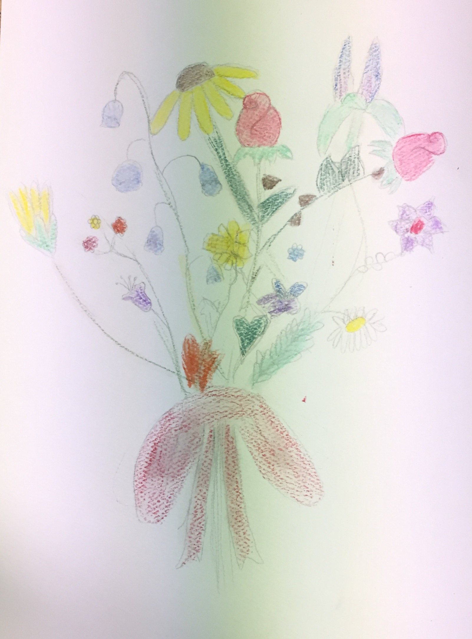 Painting Flowers with Watercolors and Colored Pencils