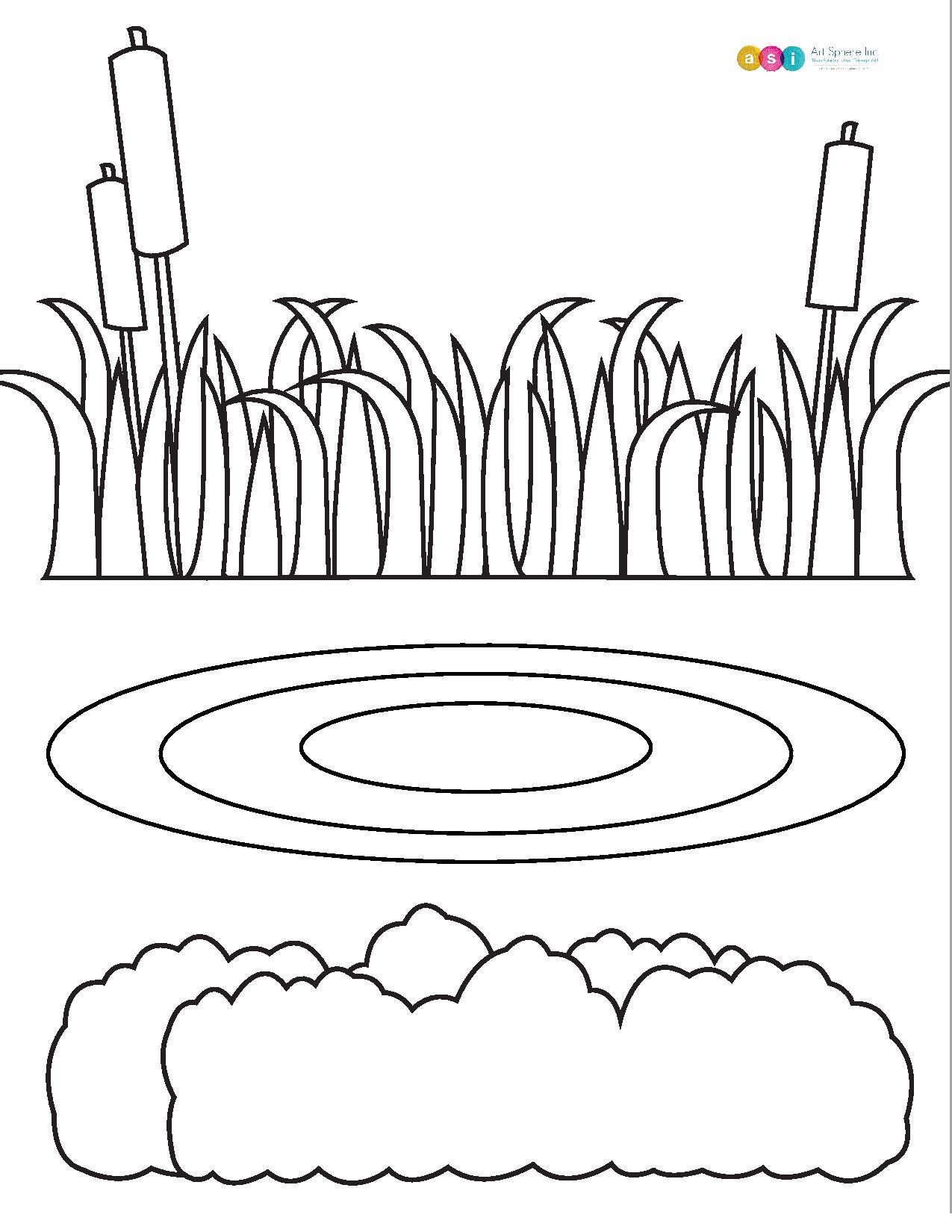 Free Pond Template Handout