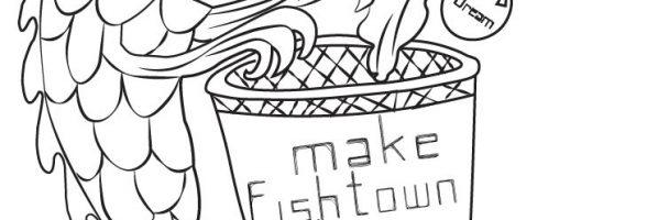 """Make Fishtown Clean"" Coloring Sheet"