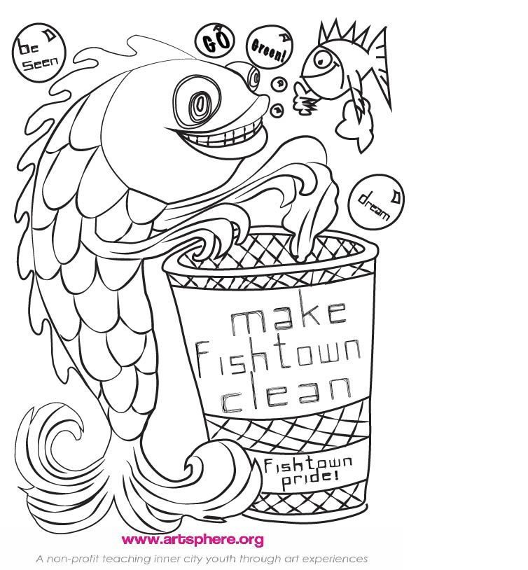 Free Go Green Coloring Sheet