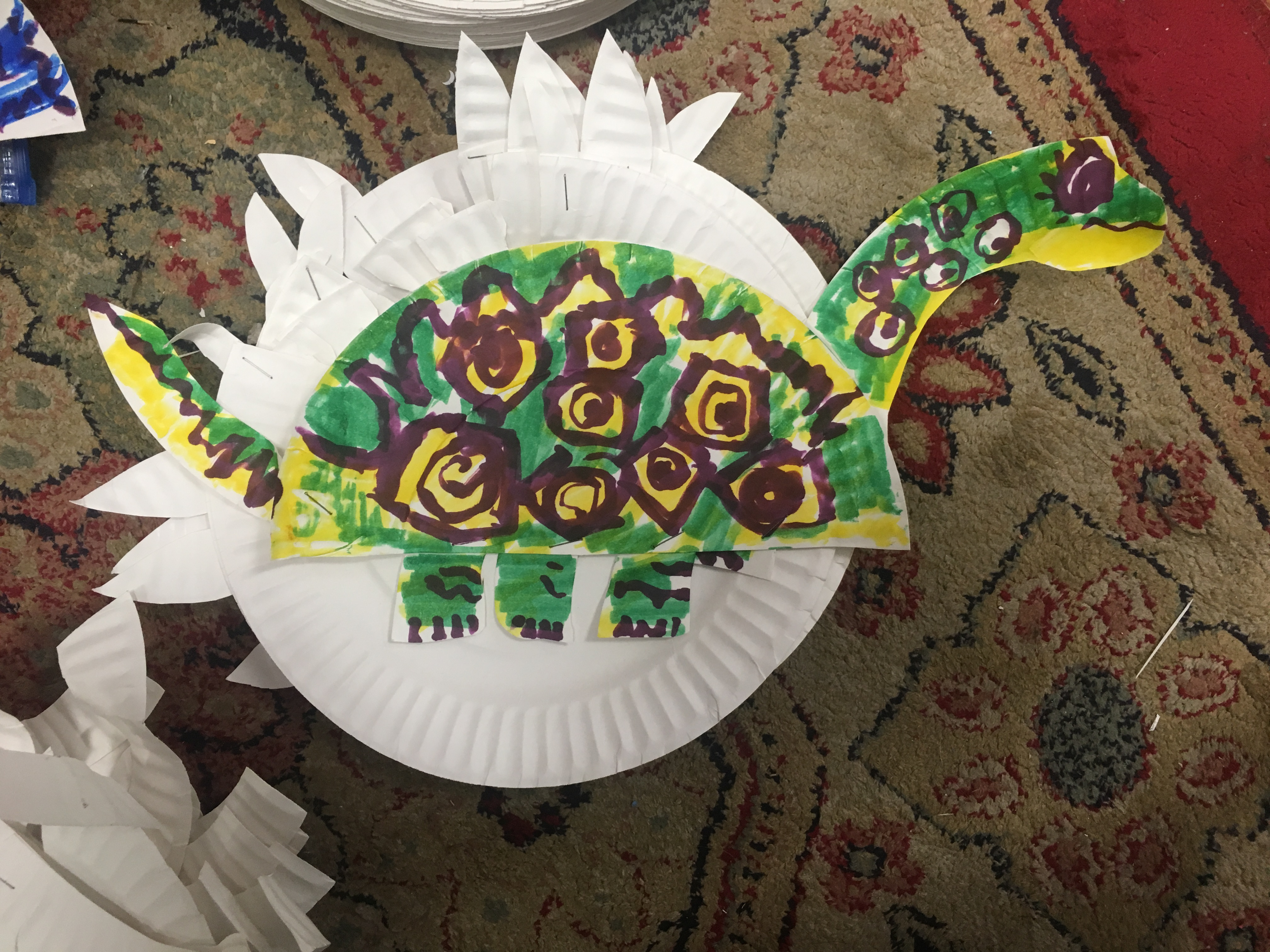 Free Lesson Plan: Dinosaur Paper plate