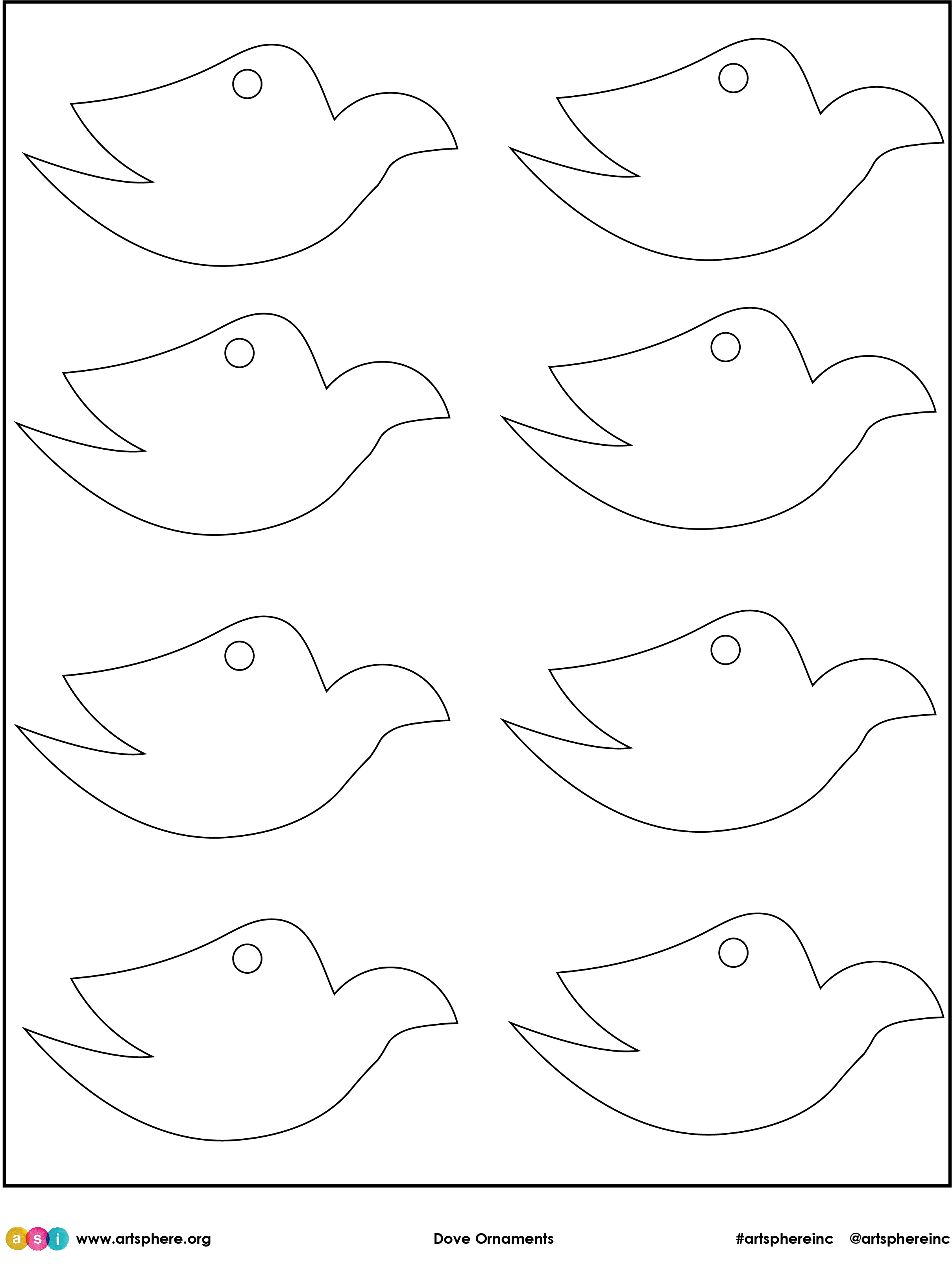 Dove Ornaments Handout