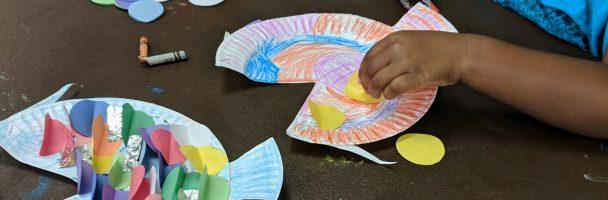 Rainbow Fish Plate Craft