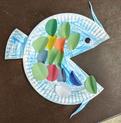Rainbow Fish Plate Craft Art Sphere Inc