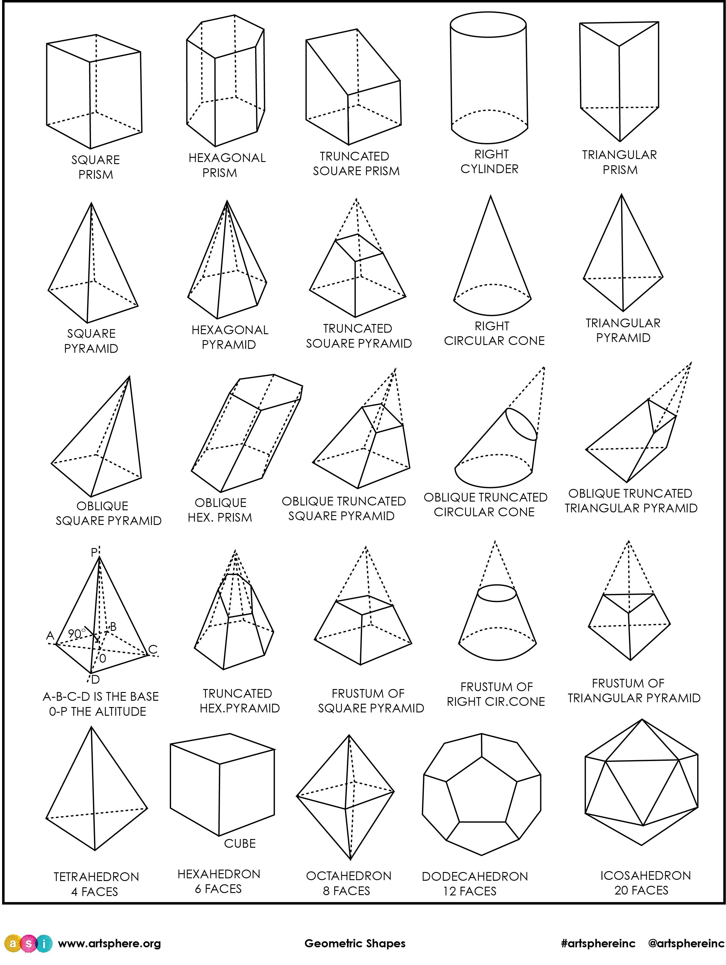 Geometric Shapes Handout