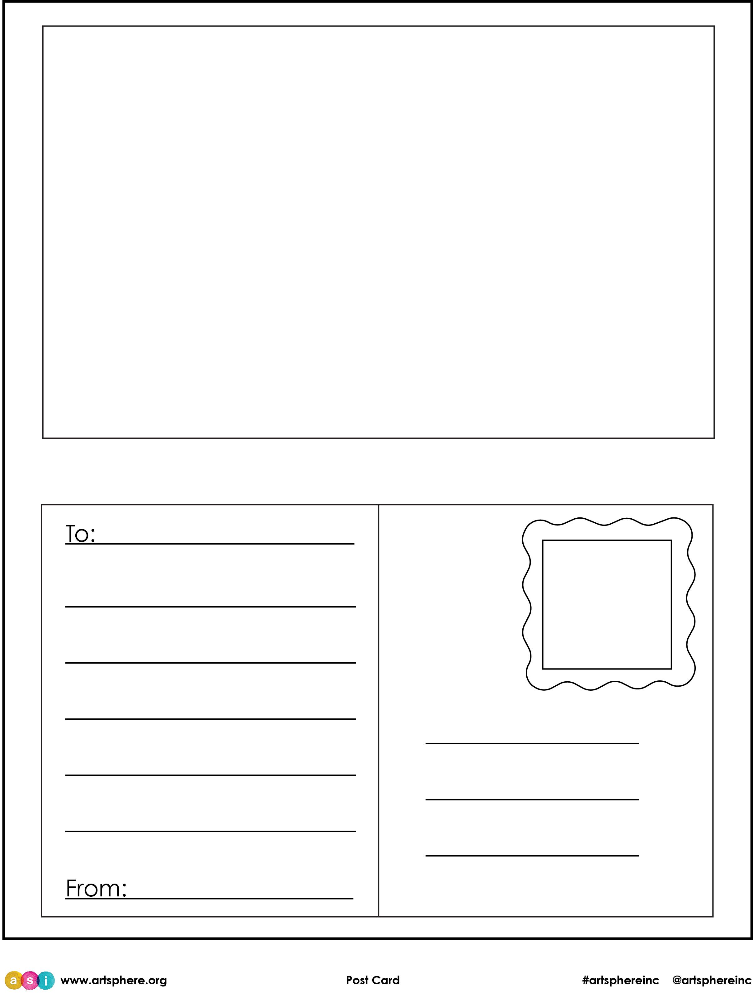 Free Lesson Plan: Post Card