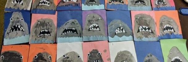Creating Gray – Painted Shark Portraits