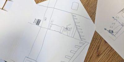 Folded Paper Houses – Christmas Theme
