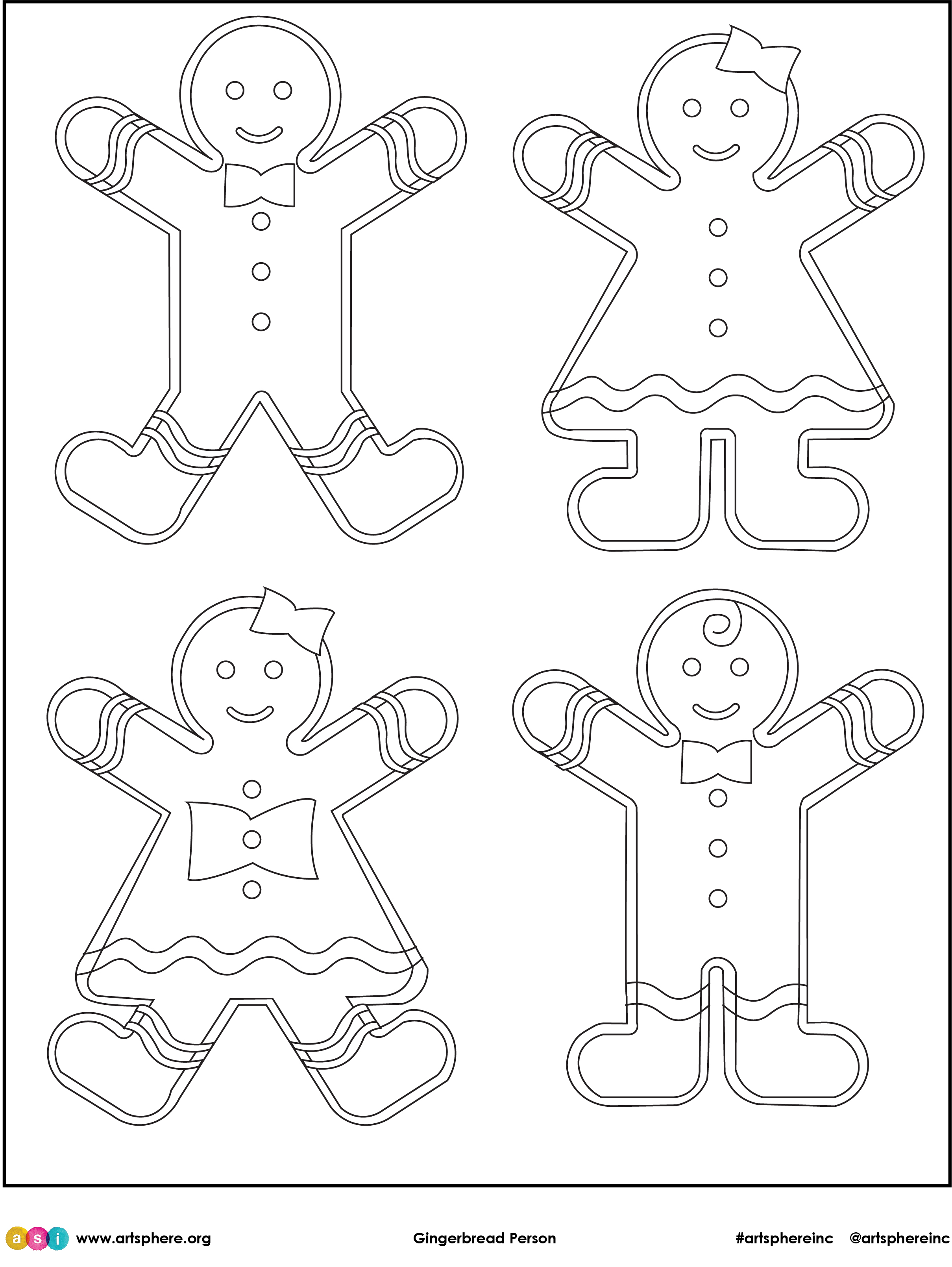 Gingerbread Person Handout