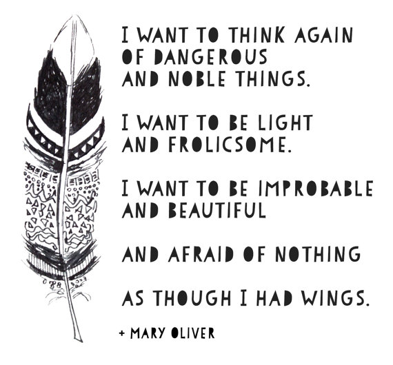 Poems from Mary Oliver for students to illustrate
