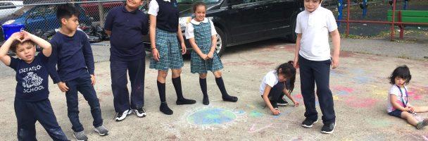 Towey's Last Class: Milk Experiment and Chalk Murals
