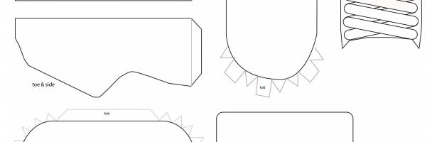 Design-Sneaker Papercraft Handout