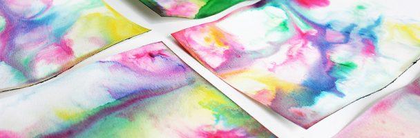 Tie Die Paper Art
