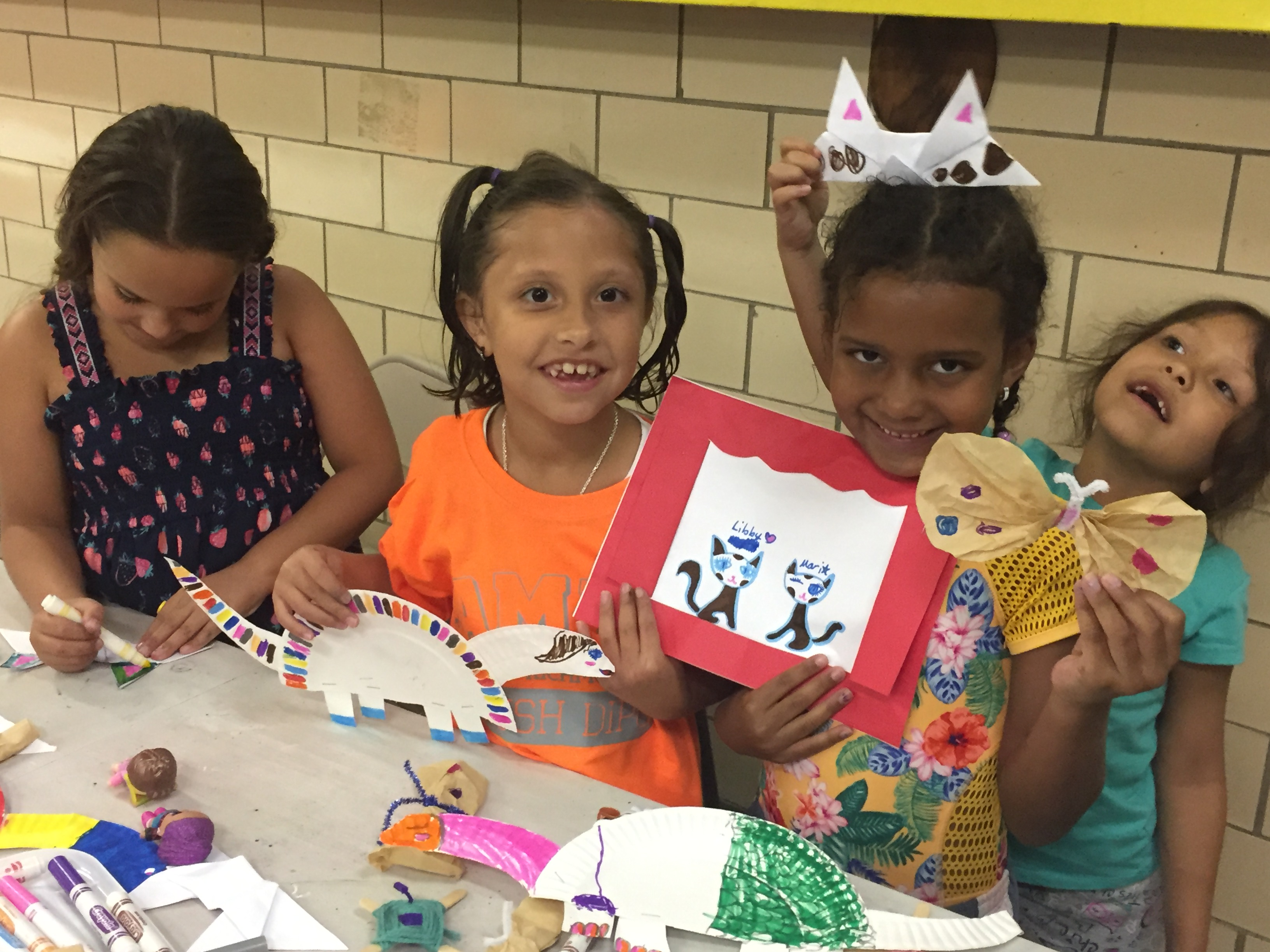 Weaving, Creating Plays, and decorating fish at Samuel and Glavins