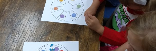 Using Play-Dough to Create Colors