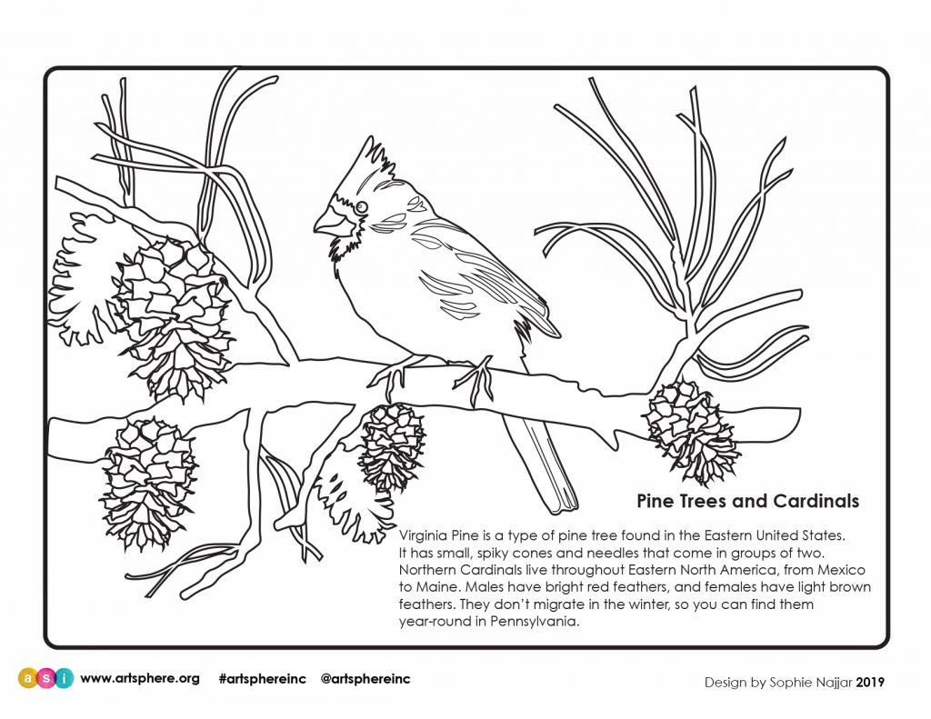 Coloring Sheet To Celebrate Winter