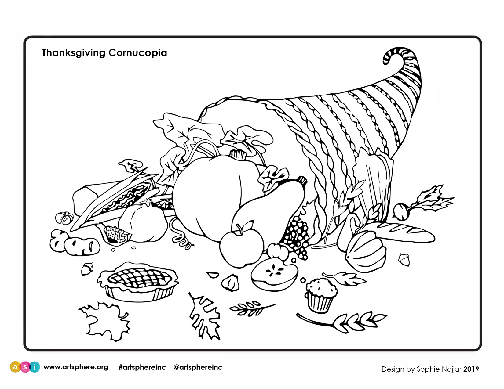 Thanksgiving Cornucopia Handout