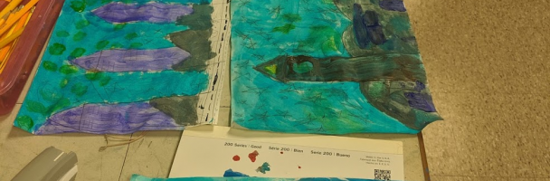 Transforming Van Gogh's The Starry Night on Paper